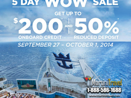 WOW 5 Day Royal Caribbean Sale!